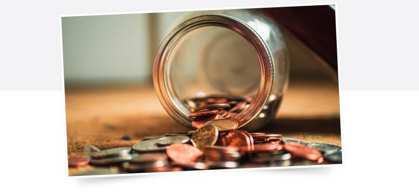 Symbolbild von Münzen und Geld